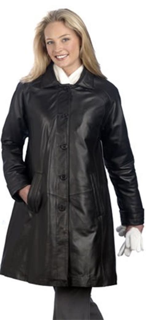 womens leather swing coat leathercoatsetc ladies 5 button leather swing coat