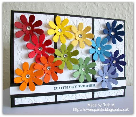 flower sparkle roy g biv flowers birthday wishes card simply stin challenge 55