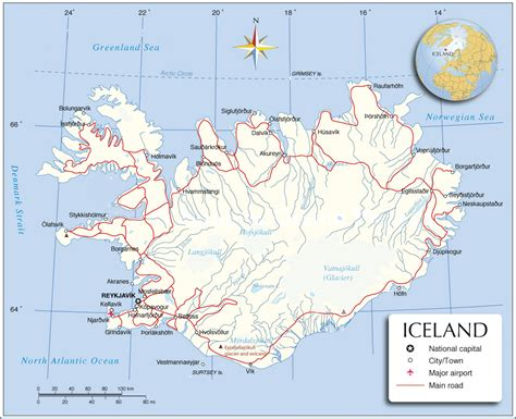 printable road map iceland printable iceland map iceland political map iceland
