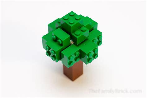 tree lego build a lego minecraft tree the family brick