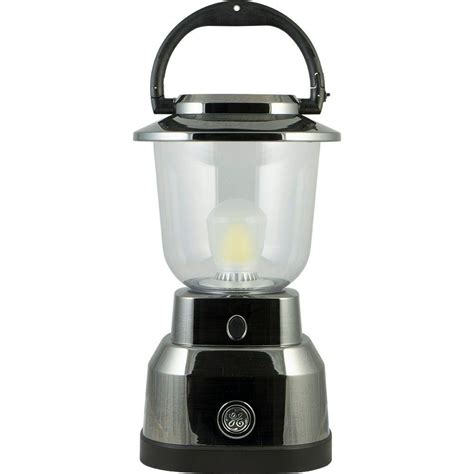 ge enbrighten battery operated led nickel plated lantern