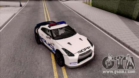 nissan gt r 2013 high speed police for gta san andreas