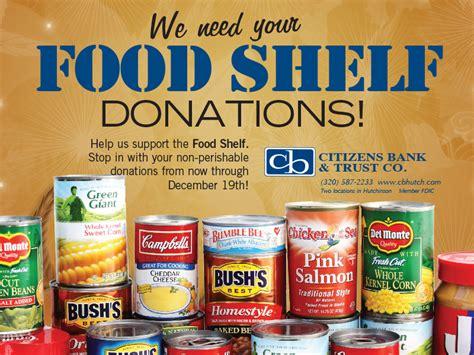 we need your food shelf donations