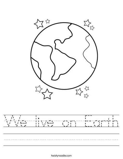 Worksheet On Earth by We Live On Earth Worksheet Twisty Noodle