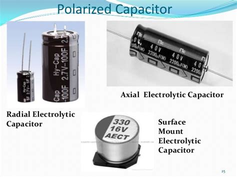 axial capacitor direction new electronics slides