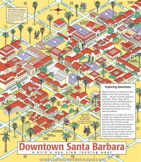 santa barbara map maps update 1282929 santa barbara tourist map atm needs atm processing atm rentals 70