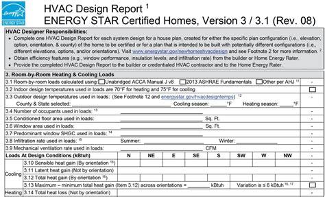 hvac design brief report energy star hvac design report 3 room by room heating