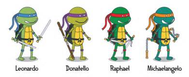 the turtles names and colors mutant turtles on behance