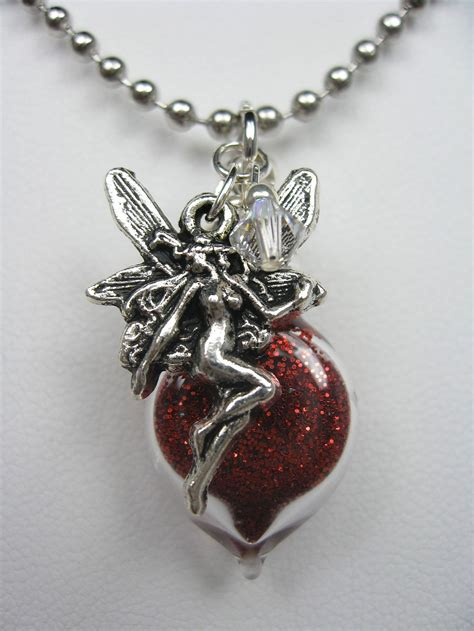 pixie dust necklace with charm