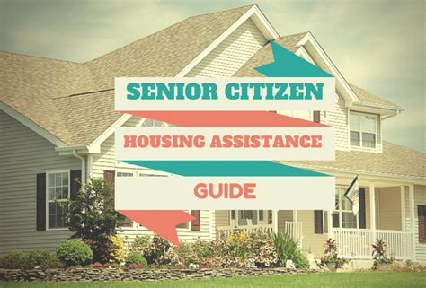senior citizen housing assistance guide personal finance