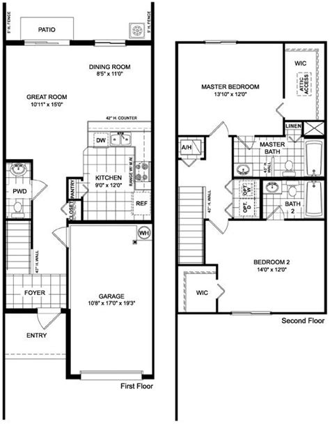 Townhome Floor Plan Designs Martins Crossing Askew Floor Plan Townhouse Design