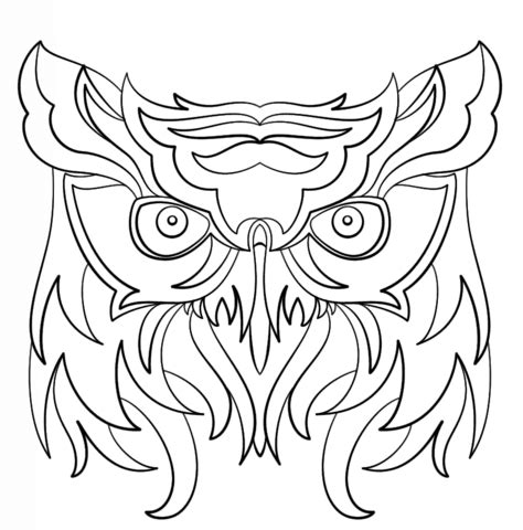 coloring pages abstract animals abstract owl coloring page free printable coloring pages