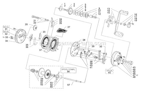 abu garcia reel parts diagram abu garcia 6000 parts list and diagram 09 00