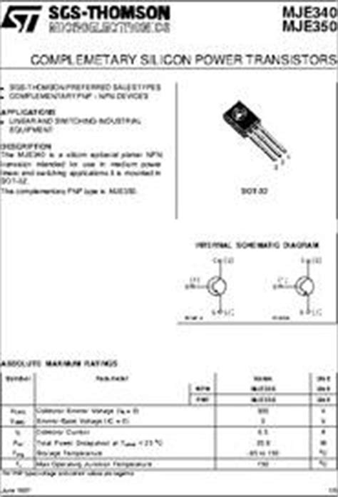 transistor mje340 datasheet mje340 350 datasheet