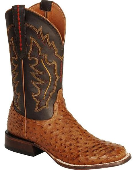 Handcrafted Cowboy Boots - lucchese handcrafted 1883 quill ostrich horseman