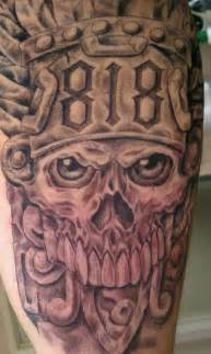 Tattoo Of A Mexican Style Skull In » Ideas Home Design