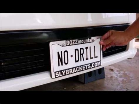 true no drill front license plate bracket mount for acura