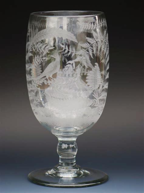 Victorian Glass Vase Victorian Engraved Glass Celery Vase In Glass