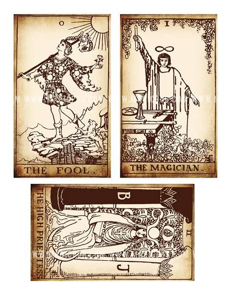 printable tarot cards download antique printable tarot pdf digital collage sheet altered