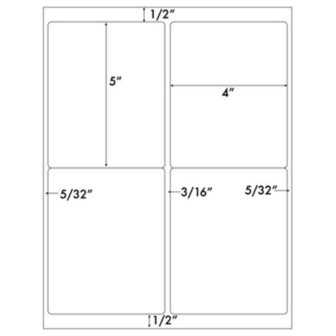free 4x5 5 card template large label template 20 sheets 80 quarter sheet large