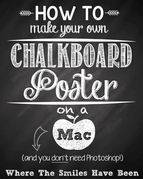 printable fonts for posters how to make your own chalkboard poster on a mac