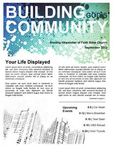 Community Newsletter Template by Community Church Newsletter Template Template Newsletter