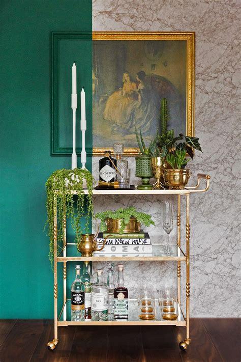 create  indoor garden home bar decor bar cart