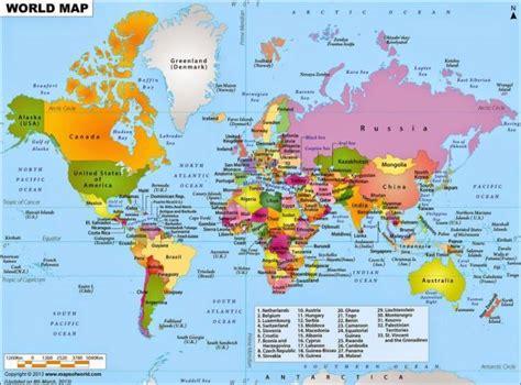 peta dunia lengkap  nama negara ukuran besar
