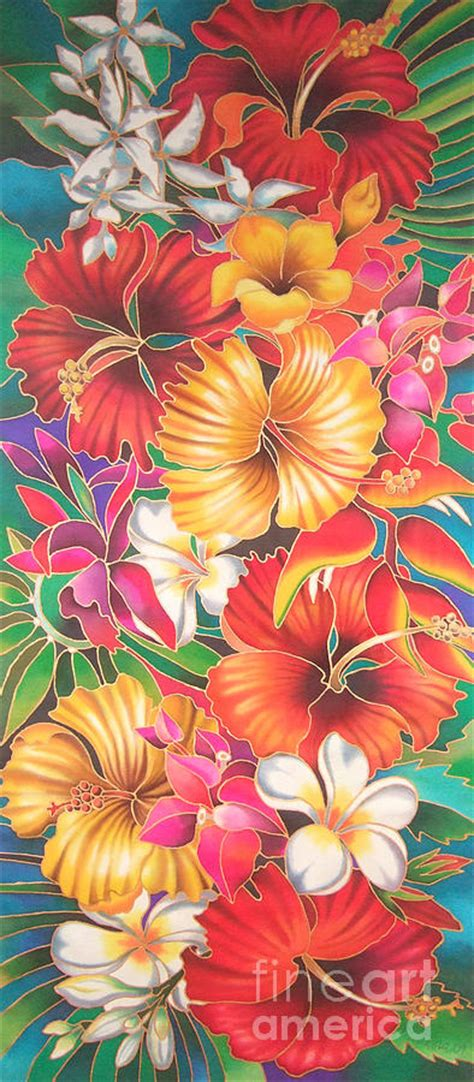 fiji flowers iii painting by maria rova