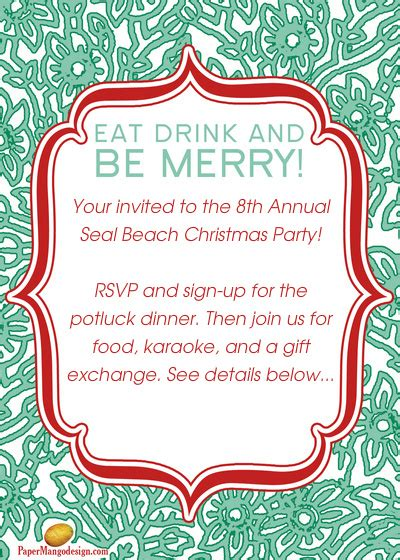 christmas potluck email invitation formidable potluck invitation template theruntime