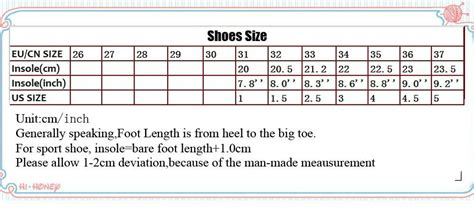 shoe size chart china chinese shoe size chart shoes for yourstyles