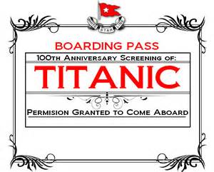 printable titanic boarding pass template blank boarding pass invitations images