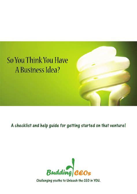 Why Think Businesses Are A Idea by So You Think You A Business Idea