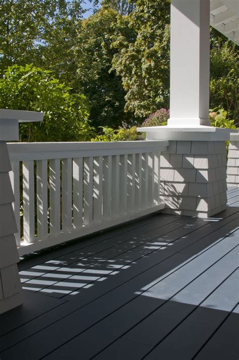 gallery closer  gray exterior porch paint deck