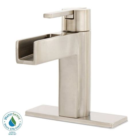 Pfister Nickel Waterfall Faucets Price Compare Home Depot Bathroom Sink Faucets