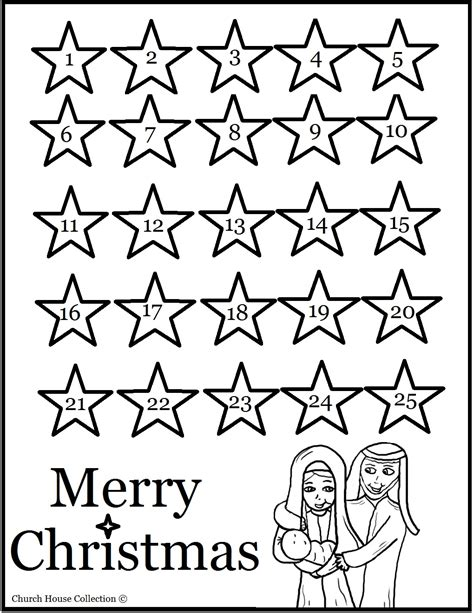 printable colour in advent calendar free coloring pages of nativity advent