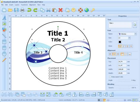 template maker software free cd dvd label maker screenshots cd label and dvd cover
