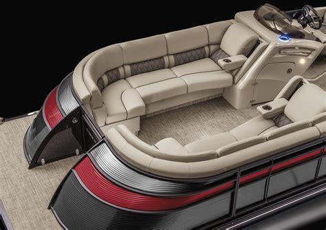 luxury inboard pontoon boats 2017 q25 io stern drive sport tower pontoon boats