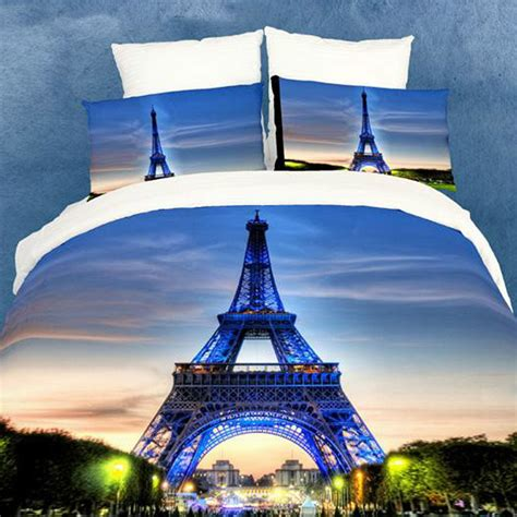 eiffel tower bedroom set luxury bedding