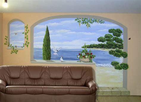 wohnzimmer malerei bild wandmalerei illusionsmalerei toskana wohnzimmer