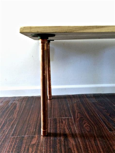 diy copper table legs salvaged wood and copper leg diy coffee table voigt