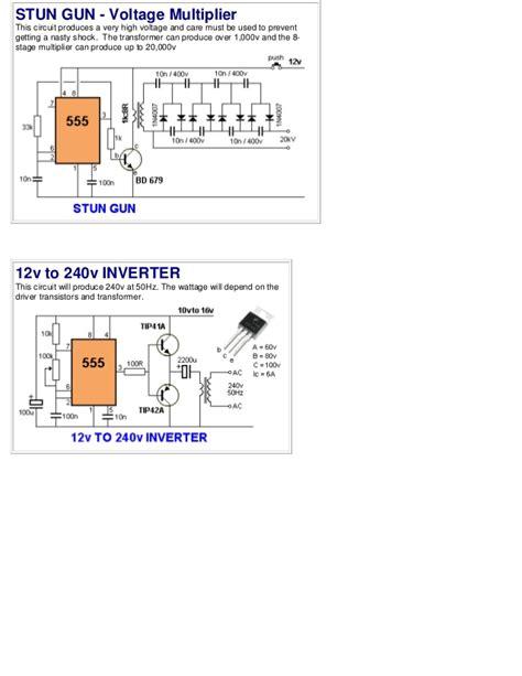breadboard circuit taser 50 555 circuits