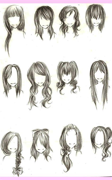 manga girl hairstyles by inasyasyasya art stuff como desenhar mang 225 gabaritos de cabelos
