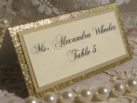glitter placecard holders gold glitter tented place cards escort cards by