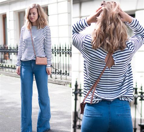 Rima Stripe Blue rima vaidila redone denim reworked vintage levis need supply co blouse blue white