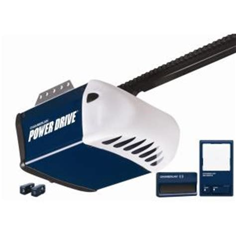 Garage Door Opener At Home Depot Chamberlain Power Drive 1 2 Hp Chain Drive Garage Door