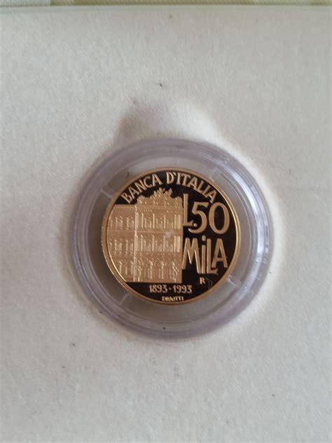 oro banca d italia italia 50 000 lire 1993 quot centenario banca d italia