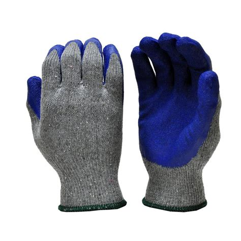 Cotton Glove g f products heavy duty medium string knit cotton with dipped coating glove 120