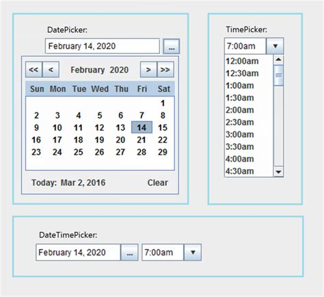 Java Calendar 0 Hour Datetimepicker Date And Time Picker In Java Stack Overflow