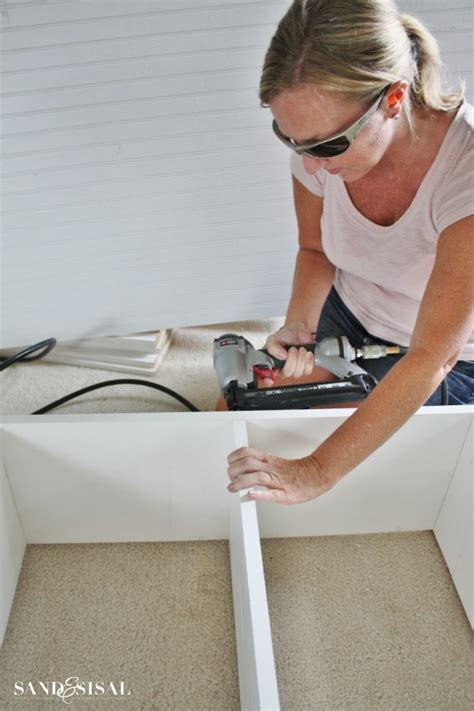 How To Anchor A Bookshelf To A Wall Diy Built In Bookshelves Window Seat Sand And Sisal